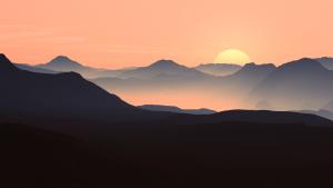 evening, sun, sunset