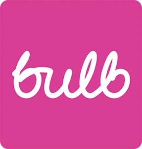 Bulb logo, green energy