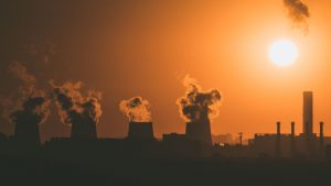 Image showing factories emitting greenhouse gases